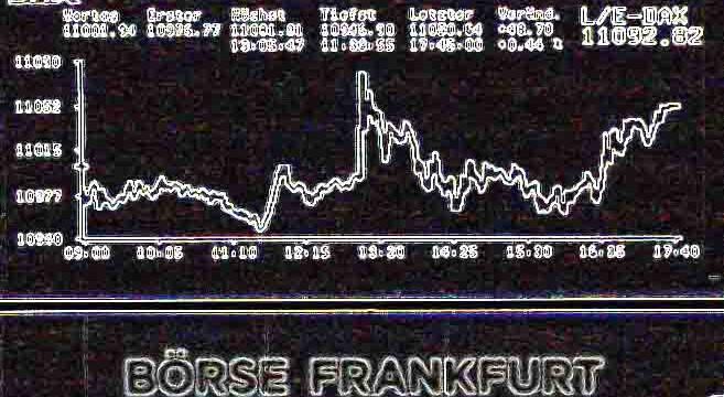 Deutsche Börse bearbeitet